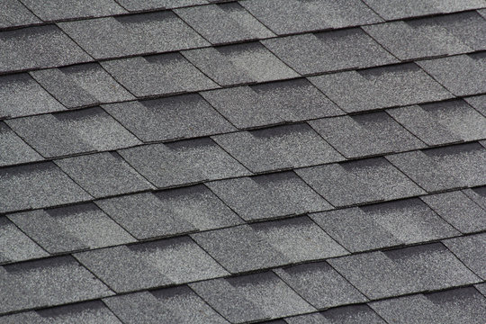 grey and black roof shingles background and texture