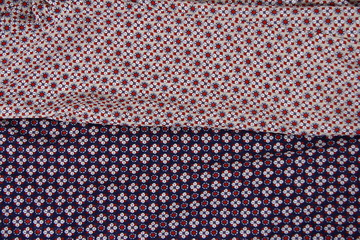 Cloth ornamental pattern closeup