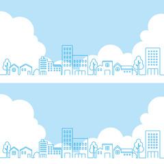 街並み 住宅街(線画)