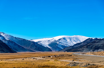 Beautiful mountain at the wayside of highway from Khovd to Ulgii in Mongolia in summeri