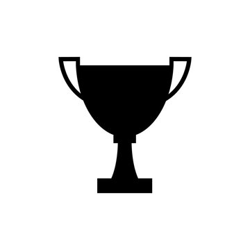 Winner trophy cup icon, logo on white background