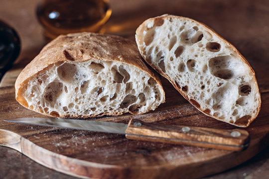 Rustic Artisan Bread Or Italian Ciabatta