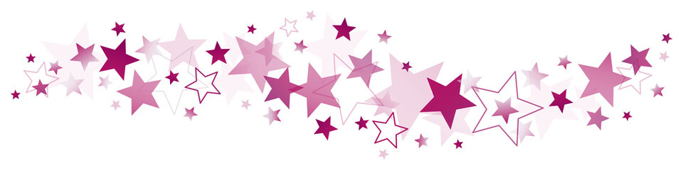 Purple Stars Border