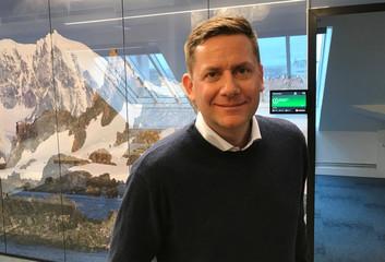 Hurtigruten CEO Daniel Skjeldam poses for a picture in Oslo