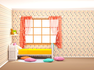 children's room rhombuses flat