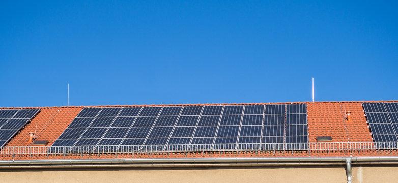 Panorama eines Solarpanel