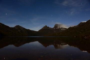 Night view of Cradle mountain in Tasmania, Australia