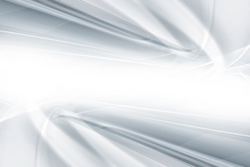 White gray perspective horizontal background. Blurred futuristic pattern lines.