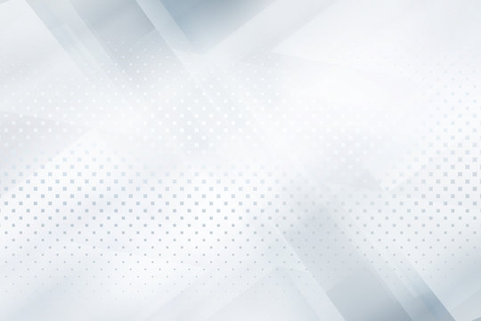 White and grey halftone raster background with geometric shapes. Abstract modern design.
