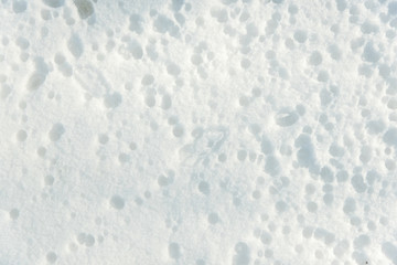 Winter texture, snow background. Patterns on the snow.background with copy space