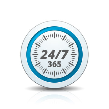 24 hours Support button illustration