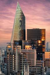 Photo sur Plexiglas Londres Die markante Architektur der City von London bei Sonnenuntergang