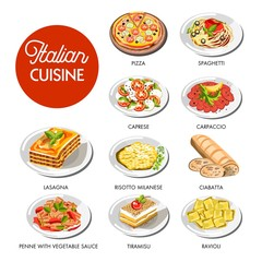 Italian cuisine food traditional dishes
