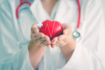 Medical heart cardiology concept Wall mural