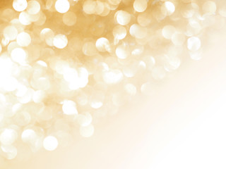 gold abstract blured background and white bokeh