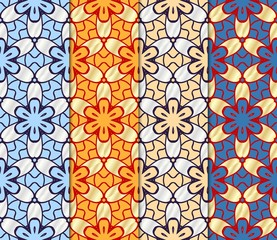 Tuinposter Marokkaanse Tegels Set of Beautiful geometric ornament. seamless art-deco pattern. vector illustration. for design, wallpaper, invitation.
