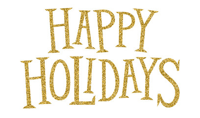 Wall Mural - HAPPY HOLIDAYS hand lettering banner