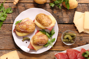 potato and raclette cheese