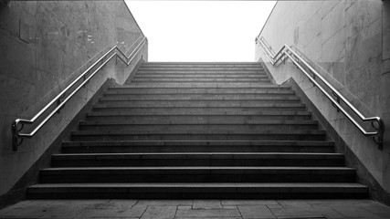stairs from the subway
