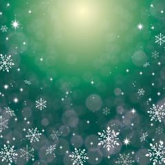 キラキラ 背景 緑 雪
