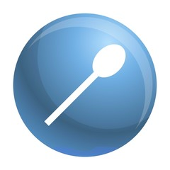 Plastic spoon icon. Simple illustration of plastic spoon vector icon for web design isolated on white background