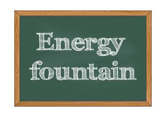 Energy fountain chalkboard notice Vector illustration for design