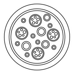 Pizza mozzarella icon. Outline pizza mozzarella vector icon for web design isolated on white background