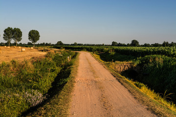 Milan, Italy - panorama in the countryside