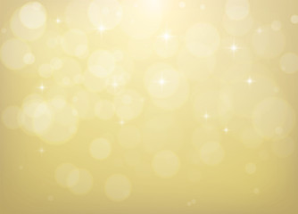 Abstract Bokeh Golden Christmas Background.