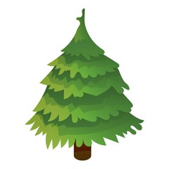 Green xmas tree icon. Isometric of green xmas tree vector icon for web design isolated on white background