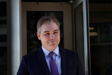 CNN's Acosta departs following hearing in lawsuit against Trump administration outside U.S. District Court in Washington