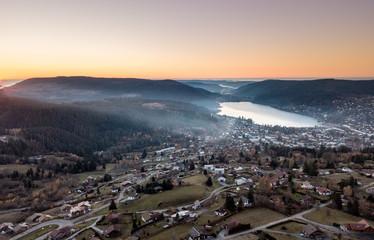 Vogesen Frankreich Gerardmer von oben / Luftbilder