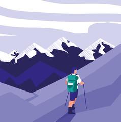 Hiking man design