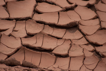 Dry cracked earth- global warming- climate change