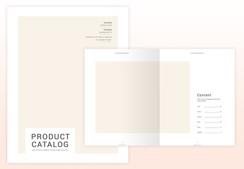 Catalog Layout with Pale Yellow Accents