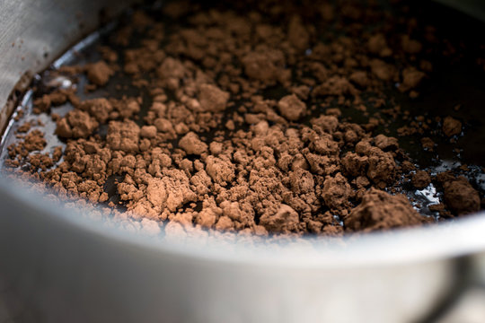 Close up of cocoa solids