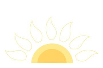 Sun sign icon. vector illustration
