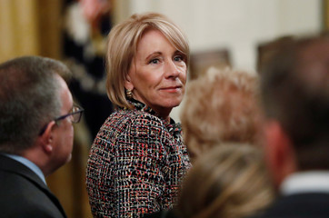 U.S. Education Secretary Betsy DeVos attends 2018 Presidential Medal of Freedom ceremony at the White House in Washington