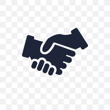 Shake hands transparent icon. Shake hands symbol design from Insurance collection. Simple element vector illustration. Can be used in web and mobile.