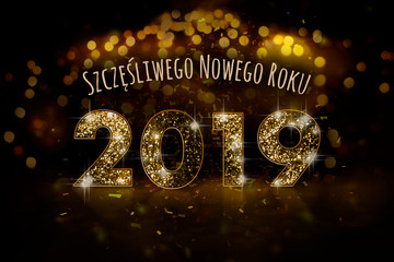 Obraz Szczęśliwego Nowego Roku 2019 - fototapety do salonu