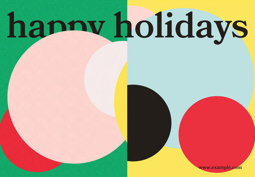 Abstract Holiday Postcard