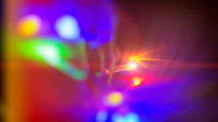 Bright light bulbs Christmas tree lights.