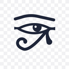 Eye of ra transparent icon. Eye of ra symbol design from Religion collection.