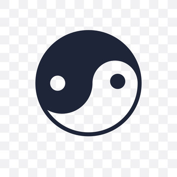 Yin Yang transparent icon. Yin Yang symbol design from Religion collection.