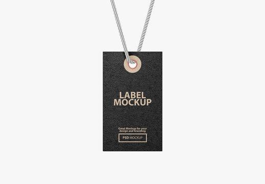 Cardboard Tag Label Mockup