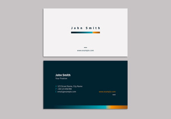 Business Card Layout with Gradient