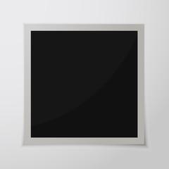 Paper photo frame. Vector illustration