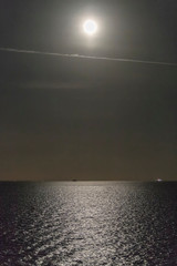 Light Of The Moon Over The Night Sea