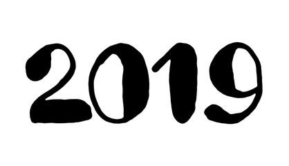 2019 - Handwritten number of year