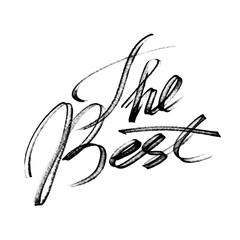 The Best - Modern calligraphy